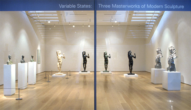 Installation view of Variable States exhibition in Nasher Galleries