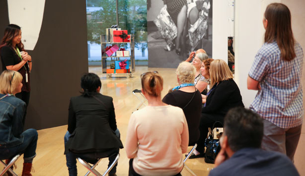 Nasher Now participants enjoy a gallery tour