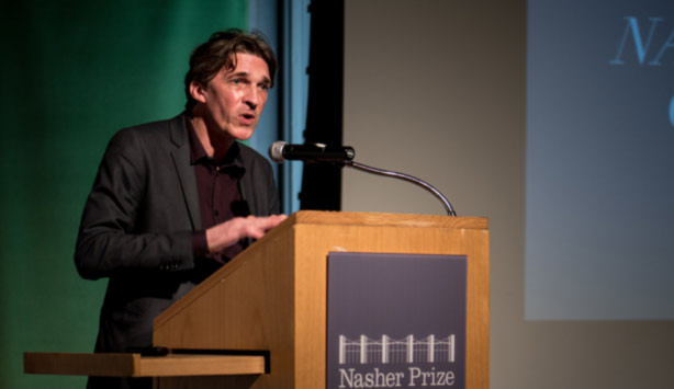 Nicolas Bourriaud delivers the keynote address at the 2017 Graduate Symposium