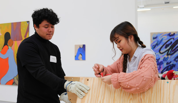 Students create art at The Warehouse