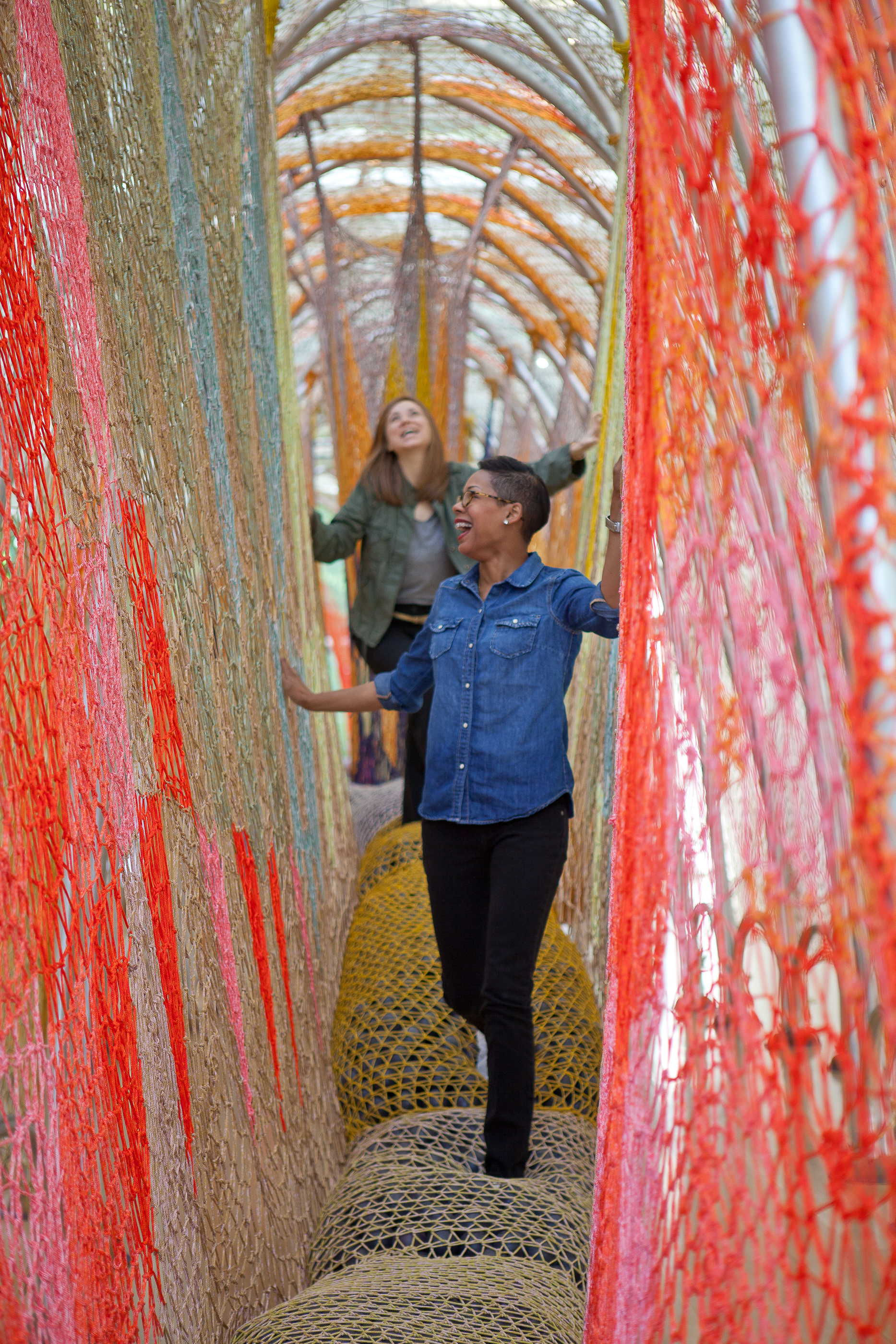 Ernesto Neto's exhibition at the Nasher Sculpture Center