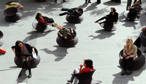 Heatherwick Studio Spun Chairs Nasher Sculpture Center