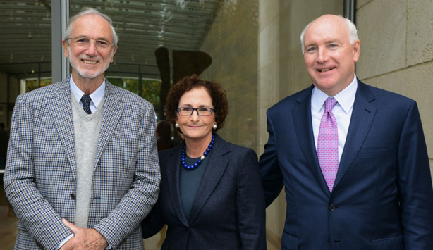 Renzo Piano, Nancy Nasher, and David Haemisegger