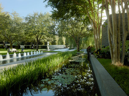 Nasher Sculpture Center garden pond